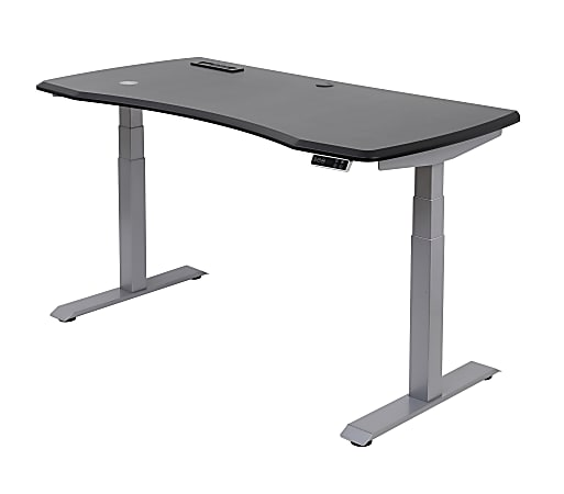 """WorkPro® Electric Height-Adjustable Standing Desk with Wireless Charging, 60""""W, Black"""
