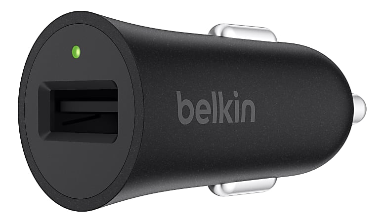 Belkin® BOOST UP™ Quick Charge™ 3.0 Car Charger with USB-A to USB Type-C Cable, 4', Black
