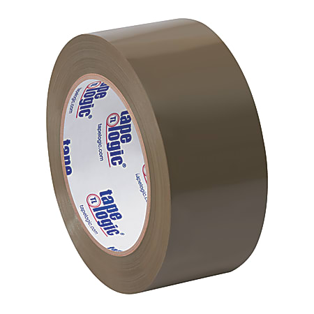 """Partners Brand Natural Rubber Carton Sealing Tape, 2 Mil, 2"""" x 110 Yd., Tan, Case Of 6"""