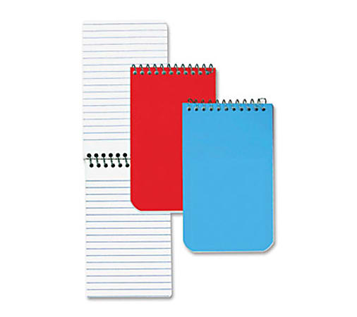 """Rediform Wirebound Memo Notebooks - 60 Sheets - Wire Bound - 3"""" x 5"""" - White Paper - Assorted Cover - 1Each"""