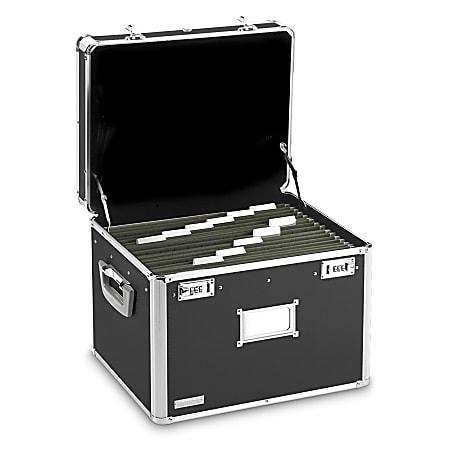 """Vaultz® Locking Letter/Legal File Chest, 12 3/8""""H x 17 5/8""""W x 14""""D, Black"""