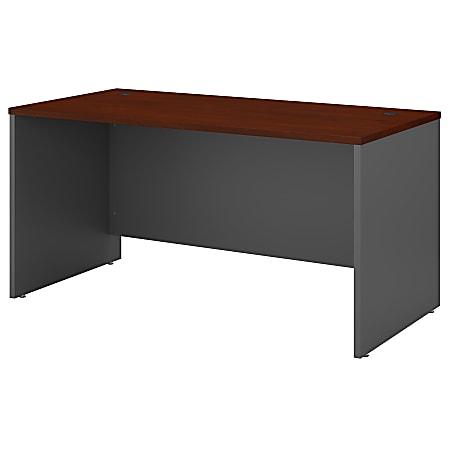 "Bush Business Furniture Components 60""W Office Desk, Hansen Cherry/Graphite Gray, Standard Delivery"