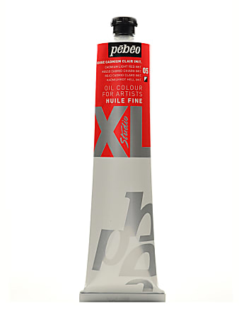Pebeo Studio XL Oil Paint, 200 mL, Cadmium Light Red Hue, Pack Of 2