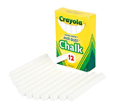 Crayola® Anti-Dust® Chalk, White, Box Of 12 Sticks