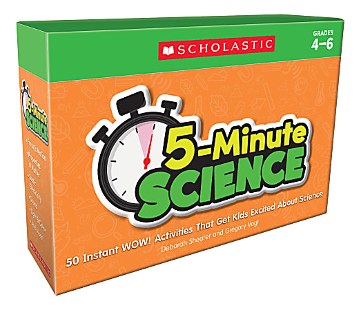 Scholastic 5-Minute Science Kit, Grades 4 To 6