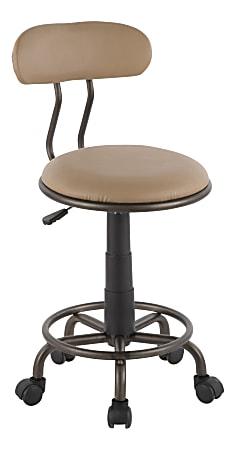 LumiSource Swift Task Chair, Antique Metal/Camel