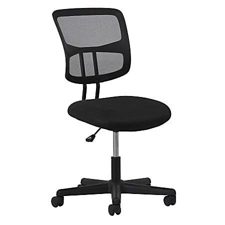 Essentials by OFM Swivel Mesh Mid-Back Task Chair, Black/Silver
