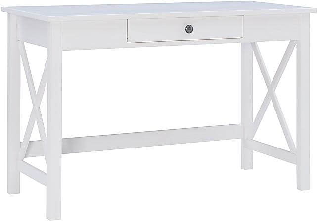 "Linon Dallin 46""W Laptop Desk, White"