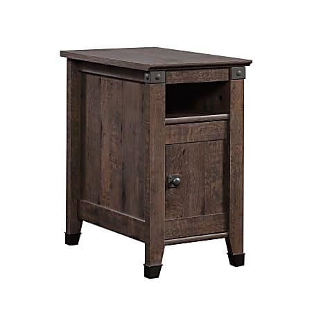 "Sauder® Carson Forge Side Table, 24-5/8""H x 14-1/8""W x 22-1/2""D, Coffee Oak"