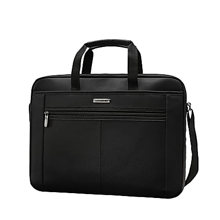 "Samsonite® 15.4"" Single Gusset Computer Case, Black/Gray"