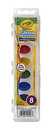 Crayola® Glitter Watercolor Paints, Assorted Colors
