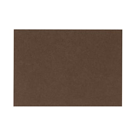 """LUX Flat Cards, A1, 3 1/2"""" x 4 7/8"""", Chocolate Brown, Pack Of 250"""