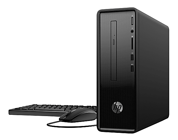 HP Slim 290-a0011 Desktop PC, AMD A6, 4GB Memory, 1TB Hard Drive, Windows® 10 Home