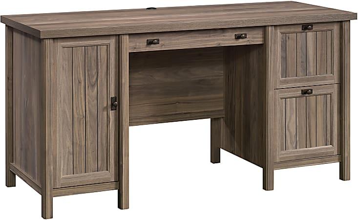 """Sauder® Costa 60""""W Computer Desk, Washed Walnut"""