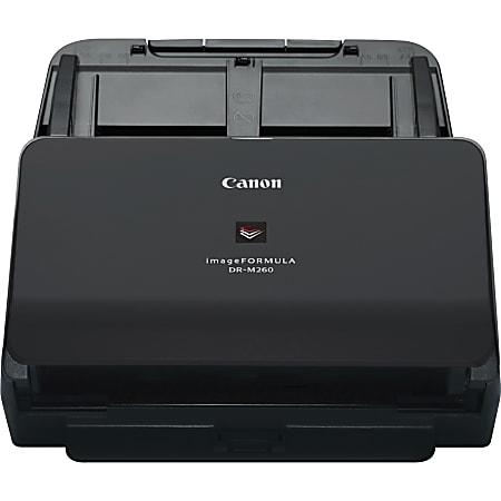 Canon imageFORMULA DR-M260 Sheetfed Scanner - 600 dpi Optical - 24-bit Color - 60 ppm (Mono) - 60 ppm (Color) - Duplex Scanning - USB