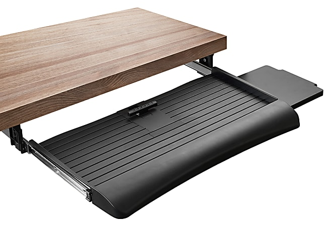 "Mount-It MI-7136 Clamp Sliding Keyboard Tray, 27"", Black"
