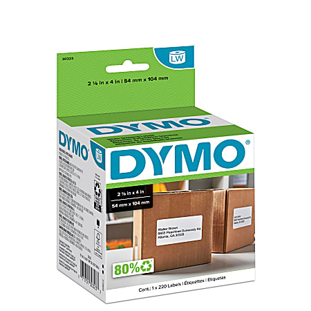 """DYMO® LabelWriter® Model 30323 Shipping Labels, 4"""" x 2 1/8"""", Roll Of 220"""