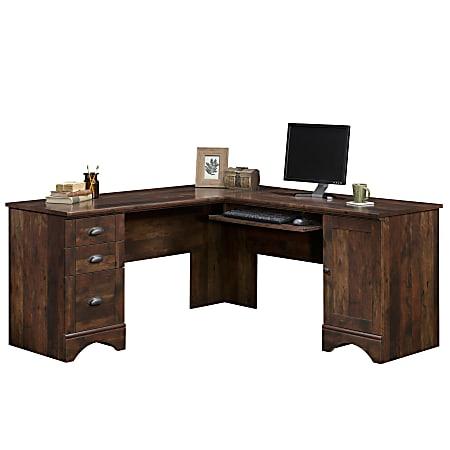 Sauder® Harbor View Collection Corner Computer Desk, Curado Cherry