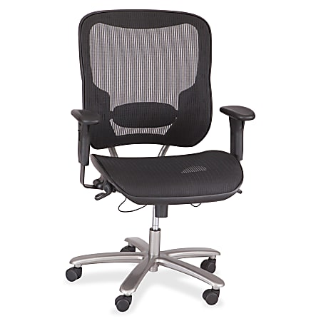 Safco® Lineage™ Big & Tall Mesh Task Chair, Black/Silver