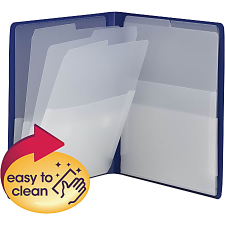 Smead® Organized UP Multi-Pocket Organizer, Letter Size, Blue