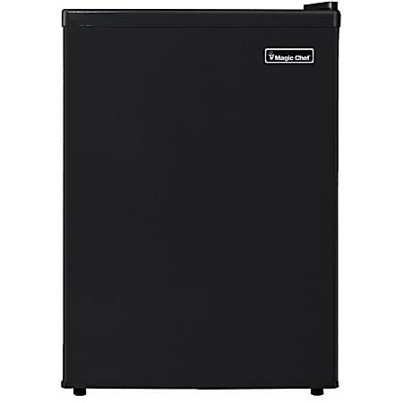 Magic Chef 2.4 cu. ft. Mini Refrigerator - 2.40 ft³ - Manual Defrost - Reversible - 2.10 ft³ Net Refrigerator Capacity - 0.30 ft³ Net Freezer Capacity - 213 kWh per Year - Black - Smooth