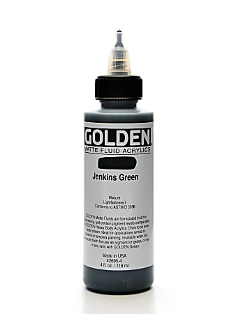 Golden Matte Fluid Acrylic Paint, 4 Oz, Jenkins Green