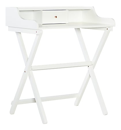 Linon Home Décor Products Gage Home Office Folding Desk, White