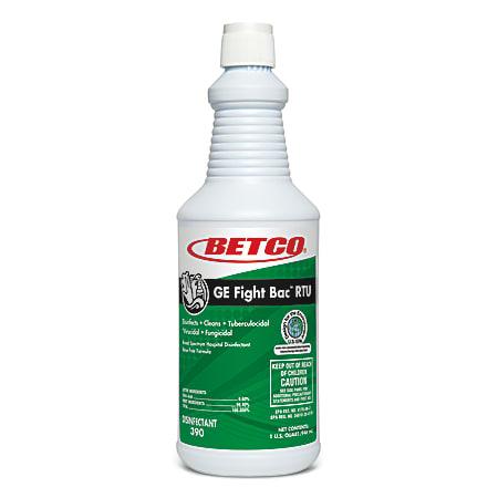 Betco® GE Fight-Bac RTU Disinfectant, 32 Oz Bottle, Case Of 12