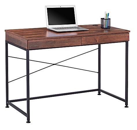 "Realspace® 44""W Valdi Computer Desk, Brown"