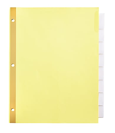 Office Depot® Brand Insertable Dividers With Big Tabs, Buff, Clear Tabs, 8-Tab, Pack Of 4 Sets