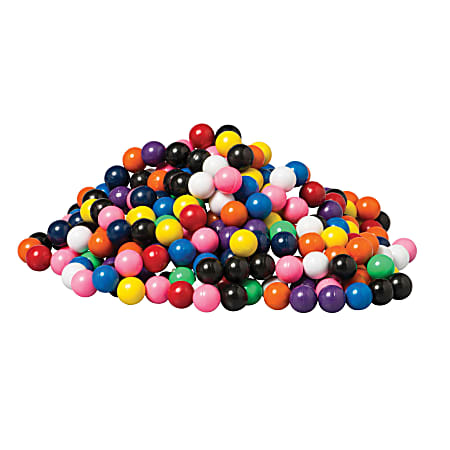 """Dowling Magnets Solid Magnet Marbles, 5/8"""", Assorted, Pre-K - Grade 4, Pack Of 400 Marbles"""