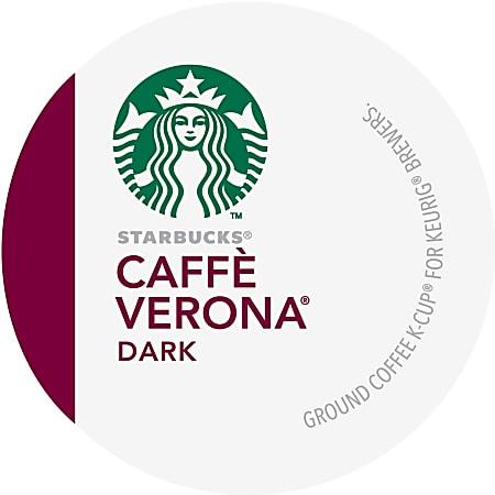Starbucks® Single-Serve Coffee K-Cup®, Caffè Verona, Carton Of 24