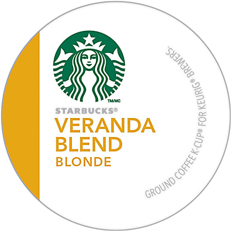 Starbucks® Single-Serve Coffee K-Cup®, Veranda Blend, Carton Of 24