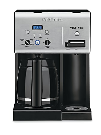 Cuisinart® Coffee Plus™ 12-Cup Programmable Coffeemaker With Hot Water System, Silver