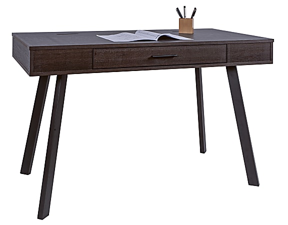 """Realspace® 48""""W Lancott Computer Desk, Dark Brown"""