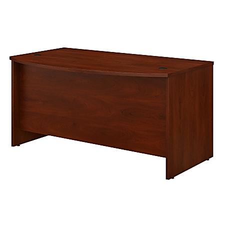 "Bush Business Furniture Studio C Bow Front Desk, 60""W x 36""D, Hansen Cherry, Standard Delivery"