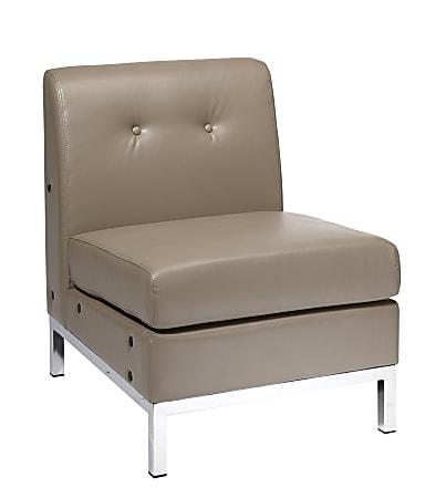 Office Star™ Avenue Six Wall Street Armless Chair, Smoke/Chrome