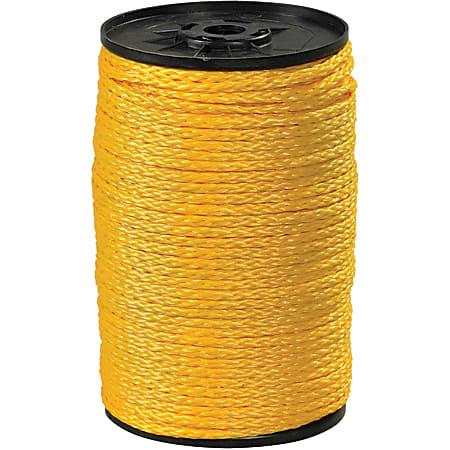 "Office Depot® Brand Hollow Braided Polypropylene Rope, 2,100 Lb, 3/8"" x 1,000', Yellow"