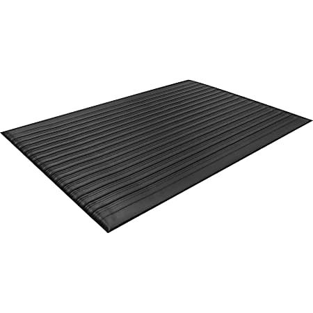 """Guardian Floor Protection Air Step Anti-Fatigue Mat - Indoor - 24"""" Length x 36"""" Width x 0.37"""" Thickness - Polycarbonate - Black"""