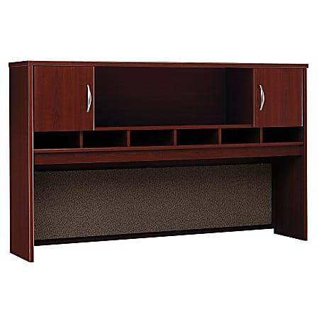 "Bush Business Furniture Components 2 Door Hutch, 72""W, Mahogany, Standard Delivery"