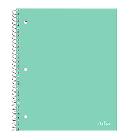"""Office Depot® Brand Stellar Poly Notebook, 8-1/2"""" x 11"""",  1 Subject, College Ruled, 100 Sheets, Mint"""