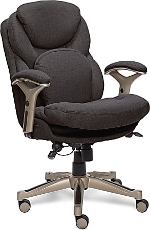 Serta® Works Mid-Back Office Chair With Back In Motion Technology, Fabric, Dark Gray/Silver