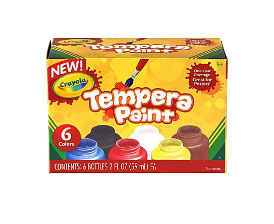 Crayola 6-color Tempera Paint - 2 oz - 6 / Set - Assorted