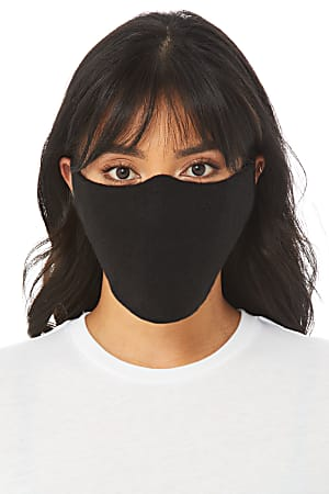 Bella + Canvas Cloth Face Coverings, Black, Pack Of 10
