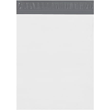 """Partners Brand Expansion Poly Mailers, 13""""H x 16""""W x 4""""D, White, Case Of 100"""