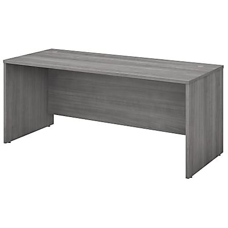 "Bush Business Furniture Studio C Office Desk, 72""W, Platinum Gray, Standard Delivery"