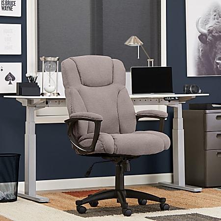 Serta® Style Hannah II High-Back Office Chair, Microfiber, Harvard Gray/Black