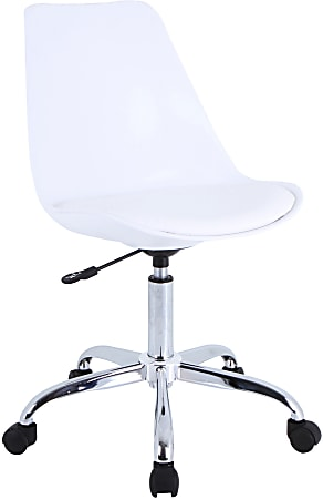 Lorell® Poly Task Chair, White