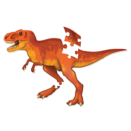 Learning Resources T-Rex Jumbo Dinosaur Floor Puzzle, Pre-K To Grade 4