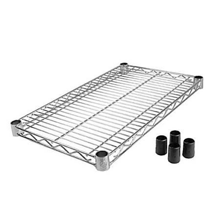 "Winco Chrome-Plated Wire Shelf, 2""H x 24""W x 14""D, Silver"